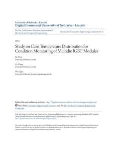 Study on Case Temperature Distribution for Condition Monitoring of