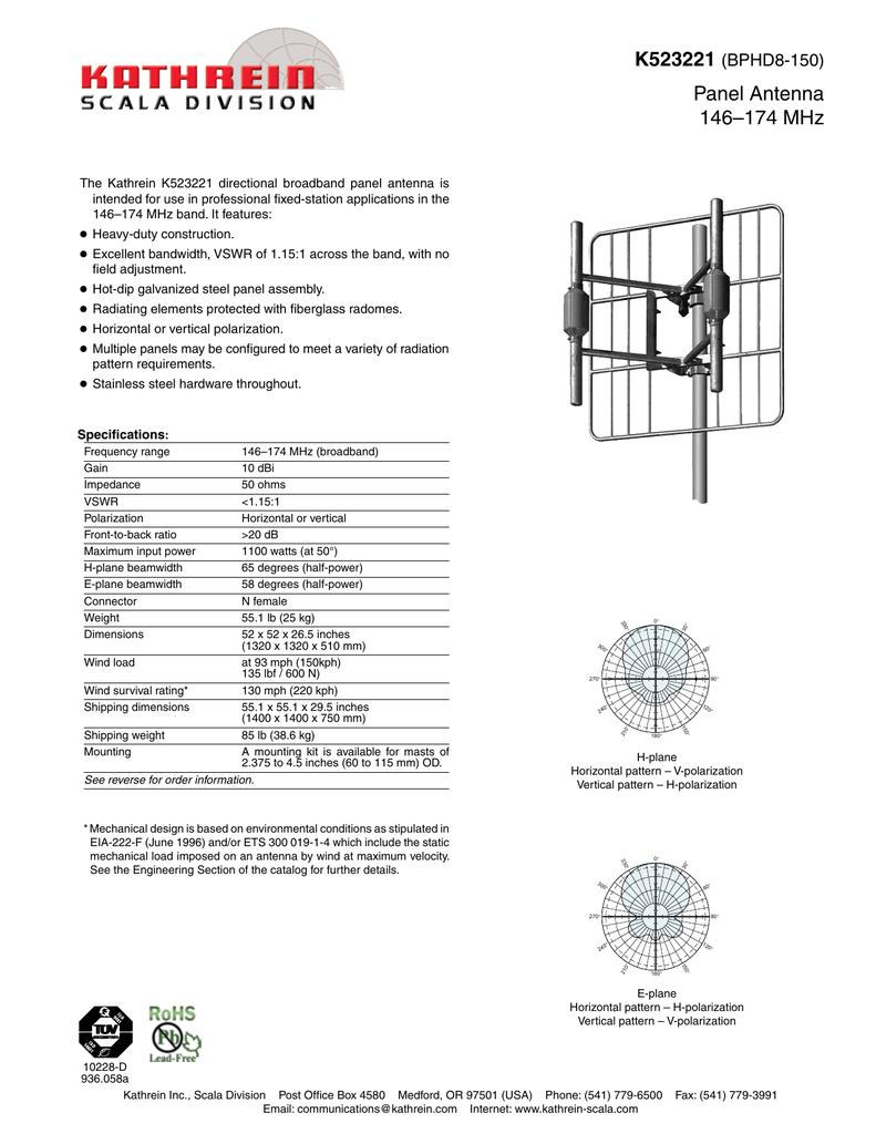 Kathrein antenna datasheet