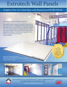 Extrutech Car Wash Panel Catalog