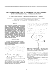 FIRST-ORDER DIFFERENTIAL BEAMFORMING AND JOINT