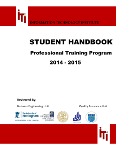 student handbook - Information Technology Institute