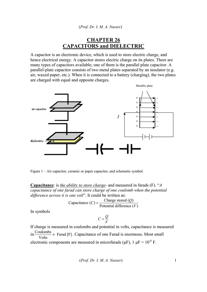 Chapter 26 Capacitors And Dielectric
