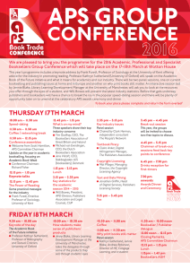 conference - Bookseller Events