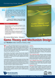Textbook Flyer - Game Theory Lab, CSA