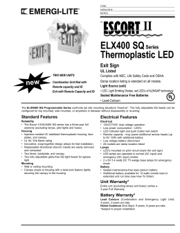 ELX400 SQSeries Thermoplastic LED Exit Sign