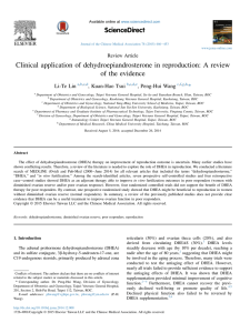Clinical application of dehydroepiandrosterone in reproduction: A