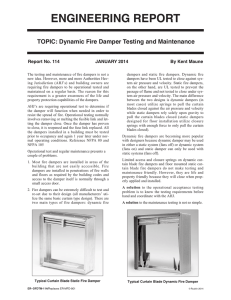Dynamic Fire Damper Testing and Maintenance