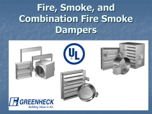 Fire, Smoke, and Combination Fire Smoke Dampers