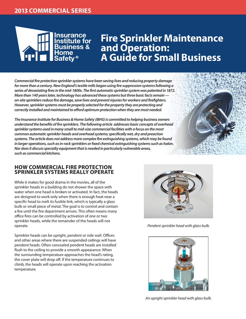 Fire Sprinkler Maintenance Tips For Small Business