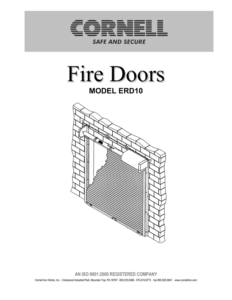 Cornell Fire Door O and M Manual