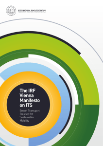 The IRF Vienna Manifesto on ITS - IRF | International Road Federation