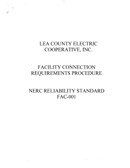 to view the Facility Connection Requirements Procedure