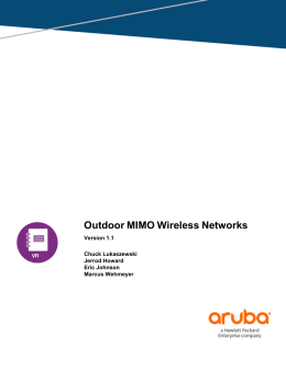 Outdoor MIMO Wireless Networks - Airheads Community