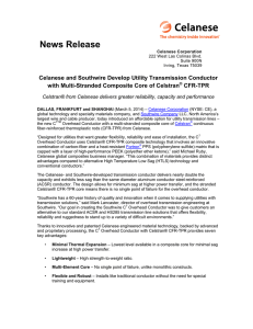 Celanese and Southwire Develop Transmission Conductor