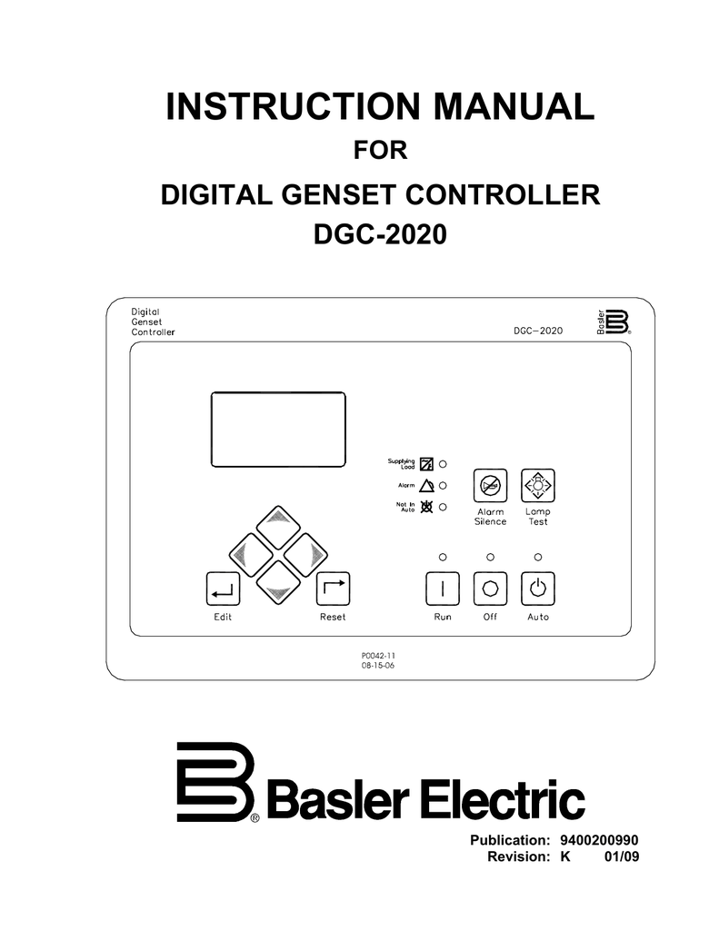 Instruction Manual For Dgc