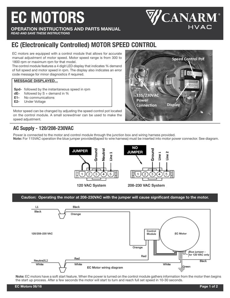 EC Motor User GuideStudylib