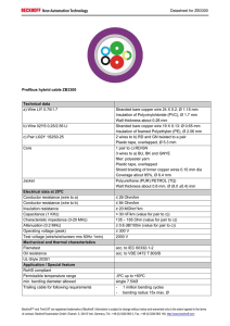 Datasheet for ZB3300 Profibus hybrid cable ZB3300 Technical data