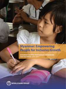 Myanmar: Empowering People for Inclusive Growth