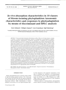 In vivo absorption characteristics in 10 classes of bloom