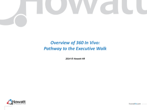 Overview of 360 In Vivo: Pathway to the