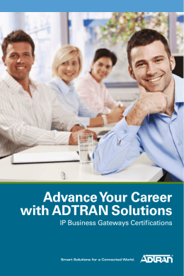 Advance Your Career with ADTRAN Solutions