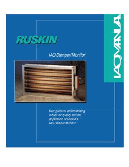 Ruskin motorized damper for Mcelwain motors ellwood city