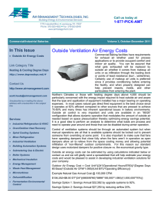 Outside Ventilation Air Energy Costs