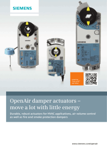 OpenAir damper actuators – move a lot with little