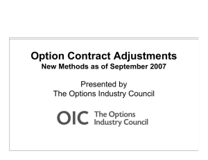 Option Contract Adjustments