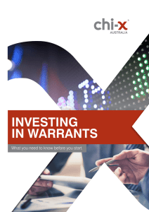 Investing in Warrants - Chi-X