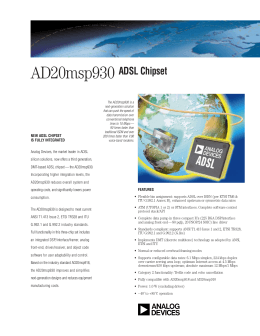 AD20msp930 ADSL Chipset