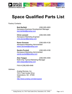 Space Qualified Parts List