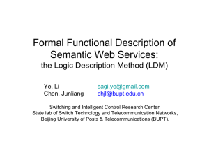 Formal Functional Description of Semantic Web Services: the Logic