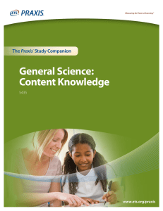 General Science: Content Knowledge