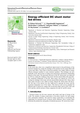 Energy efficient DC shunt motor fed drives