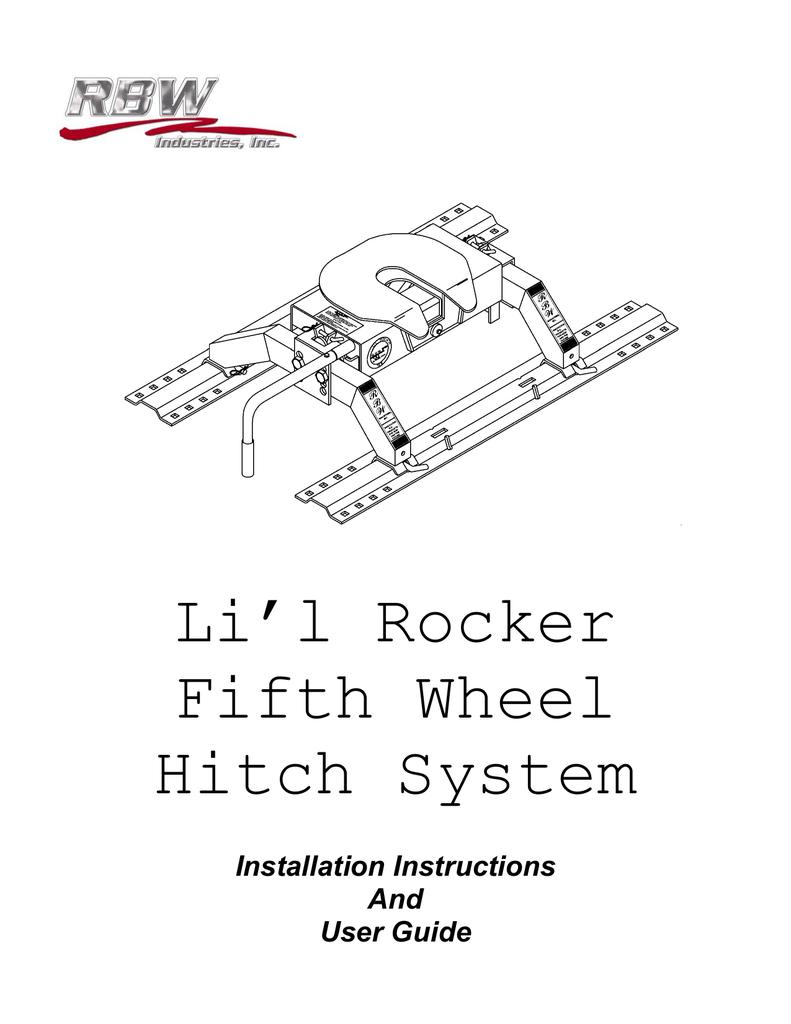 li l rocker fifth wheel hitch system al ko rh studylib net