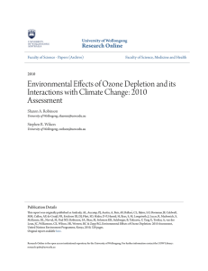 Environmental Effects of Ozone Depletion and its