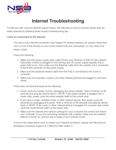 Internet Troubleshooting