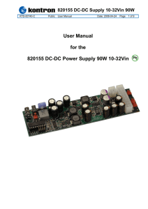 User Manual for the 820155 DC-DC Power Supply 90W 10