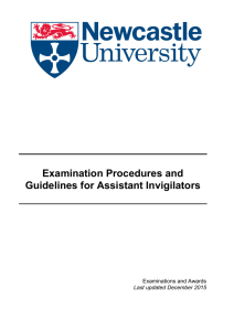 Examination Procedures and Guidelines for Assistant Invigilators