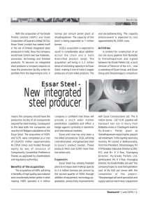 New integrated steel producer