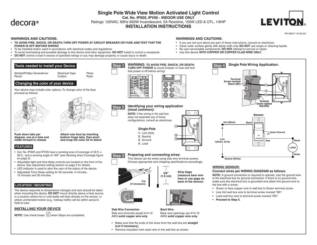 LV-IPS05-1LZ Leviton Universal Wall Switch Occupancy Sensor on 4 pole switch diagram, cooper capacitor diagram, resepticle switch diagram, combination double switch diagram, end of series 3 way switch diagram, 2006 mini cooper engine diagram, cooper lighting diagram,