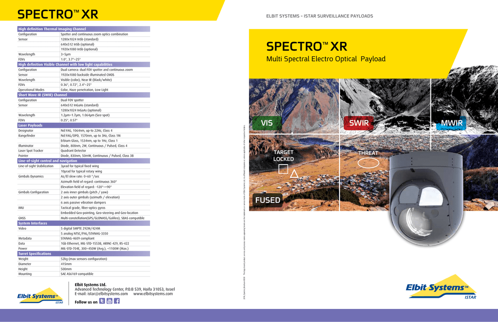 spectro™ xr - Elbit Systems