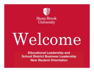 Sbu Academic Calendar.Educational Leadership And School District Business Leadership