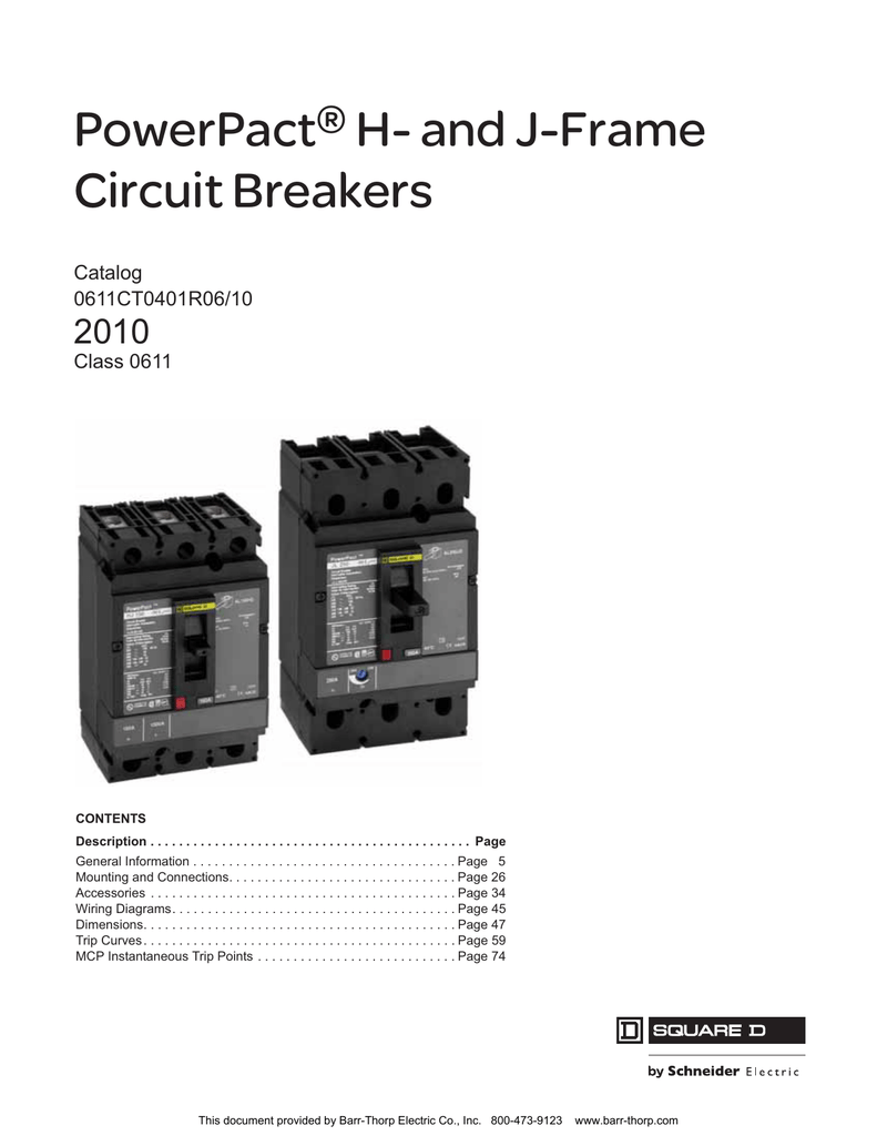 Powerpact H And J Frame Circuit Breakers Barr Chassis Branch Diagram For 208 Vac 20 Amp 3wire 1phase U