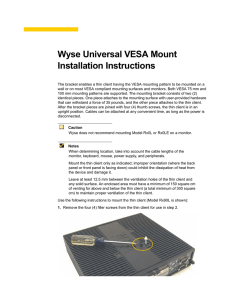 Wyse Universal VESA Mount Installation Instructions