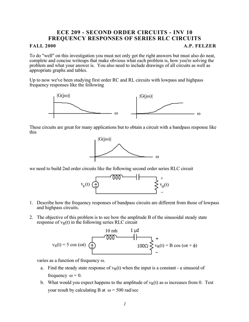 Frequency Responses Of Series Rlc Circuits Have Used My Circuit For Many Applications And I Do Think It Will