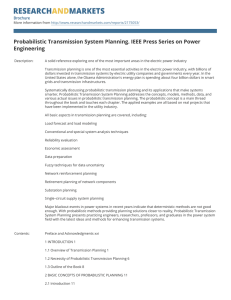 Probabilistic Transmission System Planning. IEEE Press Series on