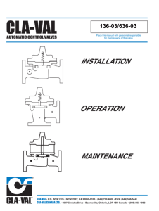 Technical Manual - Cla-Val
