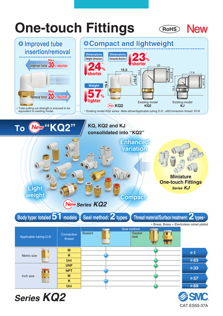 Extended Elbow SMC KQ2W13-36AS PBT /& Brass Push-to-Connect Tube Fitting with Sealant 1//2 Tube OD x 3//8 NPT Male